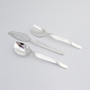 Modernist 3 Piece Flatware Set Sterling Silver