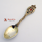 Crown And Shield Souvenir Spoon Sterling Silver Cornelius And James 1906
