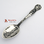 Old Mission Los Angeles Eureka Mount Lowe Incline Railway Souvenir Spoon Sterling Silver 1930