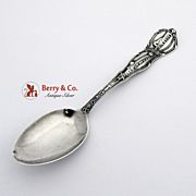 Old Mission San Diego Souvenir Spoon Sterling Silver Ernsting 1920