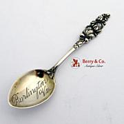 Clover Burlington Vt Souvenir Spoon Sterling Silver Watson