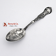 California Bear Music Stand Souvenir Spoon Sterling Silver Watson