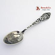 Sacramento State Capitol California Souvenir Spoon Sterling Silver