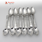Set Of 12 Georgian Teaspoons Sterling Silver Miscellaneous Makers 1809 To 1820