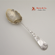 Chrysanthemum Berry Spoon Sterling Silver Gorham 1885