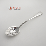 Nellie Custis Short Handle Olive Spoon Sterling Silver Lunt 1915