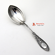 Arabesque Pudding Spoon Sterling Silver Whiting 1875