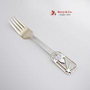 Christmas Fork 1938 Michelsen Sterling Silver