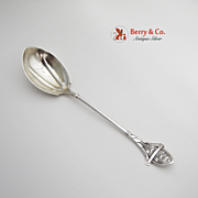 Ivy Preserve Spoon Sterling Silver Gorham 1868