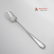 Beaded Handle Olive Spoon Sterling Silver