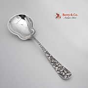 Baltimore Rose Salad Serving Spoon Sterling Silver Schofield 1905