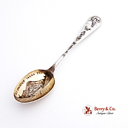 Mountain Rainier Seattle Washington Souvenir Spoon Sterling Silver
