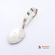 Navajo Baby Spoon Sterling Silver 1960 Handmade