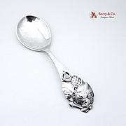 Arts and Crafts Sterling Silver Serving Spoon 1930