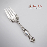 Frontenac Cold Meat Fork Sterling Silver International Silver Co 1903