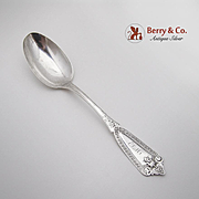 Ivy Table Or Serving Spoon Sterling Silver 1866