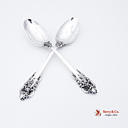 Grande Baroque Dessert Oval Soup Spoons Wallace Sterling Silver