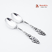 Les Six Fleurs Teaspoons Reed and Barton Sterling Silver