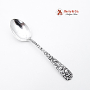 Repousse Demitasse Spoon Sterling Silver Kirk and Son 1828