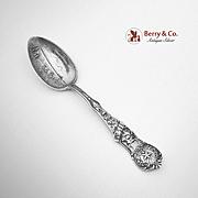 Texas Souvenir Spoon Sterling Silver Sea Wall Watson 1900