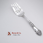 French Renaissance Pierced Cold Meat Fork Sterling Silver Reed Barton 1941