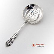 King Edward Nut Spoon Sterling Silver Gorham 1936