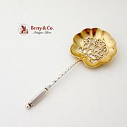 Twist Handle Bon Bon Candy Or Nut Spoon Sterling Silver Shreve 1900