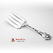 Peony Twist Handle Asparagus Fork Sterling Silver Whiting 1885