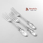 Antique Dinner Forks Sterling Silver 3 Pieces 1870
