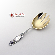 Princess Salad Serving Fork Sterling Silver Towle 1892