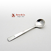 Michelsen Salt Spoon Sterling Silver Enamel 1930