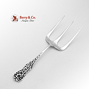 Rococo Toast Fork Sterling Silver Dominick Haff 1888