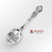Boston Massachusetts Souvenir Spoon Sterling Silver George Homer 1900