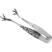 Hagie Sugar Tongs Sterling Silver Frank M Whiting 1885