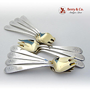 Old Colony Set of 12 Ice Cream Forks Sterling Silver Gorham 1926