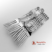 Heraldic Set of 12 Regular Forks Sterling Silver Whiting 1880