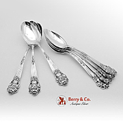 Georgian Teaspoons Sterling Silver 7 Pieces Towle 1898