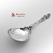 Les Six Fleurs Salad Serving Spoon Sterling Silver Reed Barton 1901