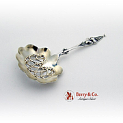 Daffodil Bon Bon Candy Nut Spoon Sterling Silver Whiting 1890