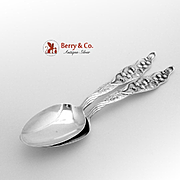 Lily Of The Valley Place Soup Spoons Sterling Silver Pair Whiting 1885