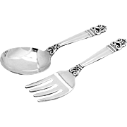 Royal Danish Baby Flatware Set Sterling Silver 2 Pieces International 1939