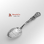 Garden Of The Gods Balanced Rock Souvenir Spoon Sterling Silver HHTC 1900