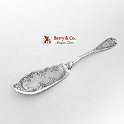 Ornate Aesthetic Master Butter Knife Sterling Silver 1880