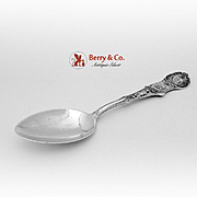 Massachusetts Souvenir Spoon Sterling Silver Watson 1900