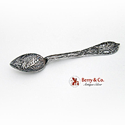 Hand Made Filigree Mexico Souvenir Spoon Sterling Silver 1940