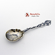 Indian Chief Alaska Souvenir Spoon Sterling Silver Joseph Mayer Bros 1900