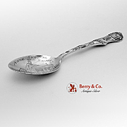 Moravian Church Winston Salem North Carolina Souvenir Spoon Sterling Silver Watson 1900