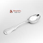 Antique Norwegian Large Dessert Spoon Silver 1794