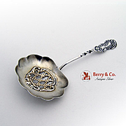 Ornate Scroll Bon Bon Spoon Sterling Silver P And P Sterling 1890