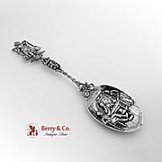 Dutch Ornate Large Serving Spoon 833 Silver Henricus Nicolaas Hubert 1925